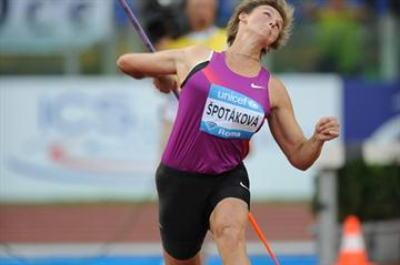 68.66m throw for victory in Rome for Barbora Spotakova (Giancarlo Colombo)