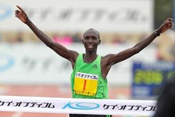 2:06:13 course record for Wilson Kipsang at Lake Biwa (Kazuo Tanaka/Agence Shot)