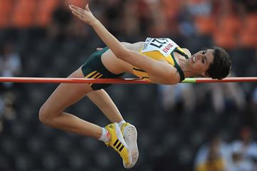 Julia Du Plessis in the girls' High Jump at the IAAF World Youth Championships 2013 (Getty Images)