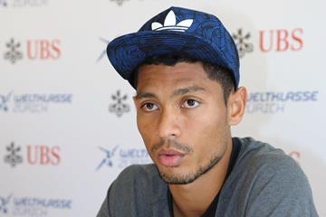 Wayde van Niekerk ahead of the 2015 IAAF Diamond League final in Zurich (Jean-Pierre Durand)