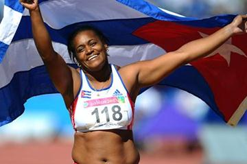 Yipsi Moreno celebrates her third straight Pan Am title in Guadalajara (Getty Images)
