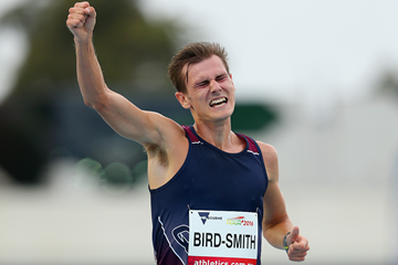 Dane Bird-Smith wins the 5000m race walk in Melbourne (Getty Images)