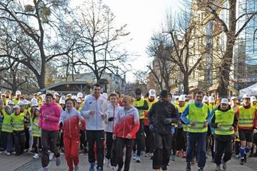 The 100-day countdown race in Sopot gets underway (fotobank.pl / UMS)