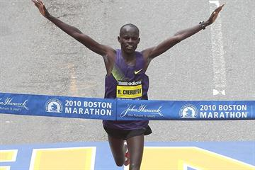 Robert Kiprono Cheruiyot smashes the Boston Marathon record in 2:05:52 (Getty Images)