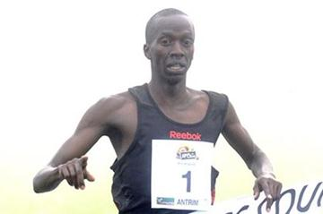 Kenya's Mike Kigen successfully defends his title in Antrim (Mark Shearman)