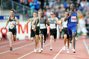 Asbel Kiprop wins the mile at the IAAF Diamond League meeting in Oslo (Mark Shearman)
