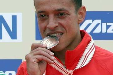 Adil Kaouch of Morocco with his short race bronze (Getty Images)