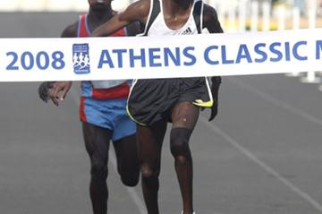 Paul Lekuraa beats Julius Kiprotich to 2008 Alpha Bank Athens Classic Marathon title (Victah Sailer)