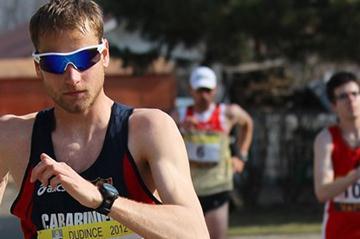 Alex Schwazer on the way to his first victory in Dudince (Branislav Račko)