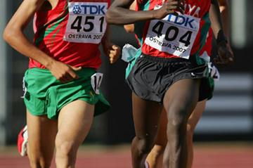 Daniel Lemashon Salel of Kenya wins the 3000m final (Getty Images)