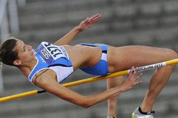 Alessia Trost of Italy competes for winning the gold medal on the Women's High Jump Final on day six of the 14th IAAF World Junior Championships in Barcelona on 15 July 2012 (Getty Images)