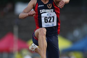 Fabrizio Schembri leaps 17.24 at the Italian championships (Giancarlo Colombo)