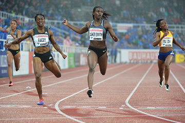Dina Asher-Smith wins the 200m at the IAAF Diamond League meeting in Stockholm (Hasse Sjogren)