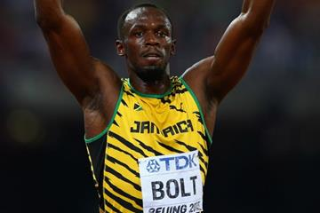 100m winner Usain Bolt at the IAAF World Championships, Beijing 2015 (Getty Images)