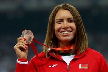 100m hurdles bronze medallist Alina Talay at the IAAF World Championships, Beijing 2015 (Getty Images)