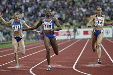 Muriel Hurtis wins the 200m gold in Munich (Getty Images)