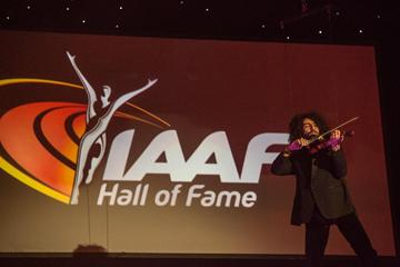Violinist Ara Malikian on stage at the IAAF Centenary Gala in Barcelona (Philippe Fitte)