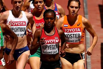 Faith Kipyegon in the 1500m at the IAAF World Championships, Beijing 2015 (Getty Images)