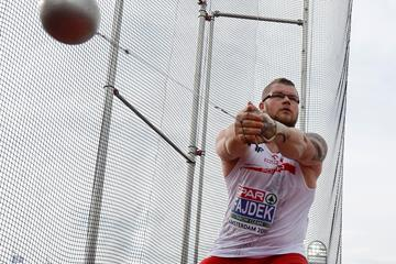Pawel Fajdek spins to the European hammer title in Amsterdam (AFP / Getty Images)
