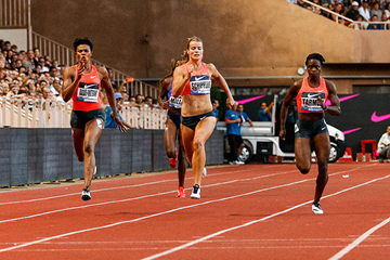 Dafne Schippers in action at the IAAF Diamond League meeting in Monaco (Philippe Fitte)