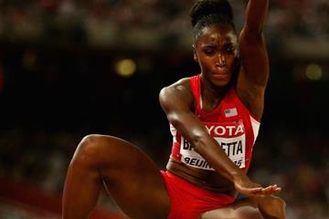 Long jump winner Tianna Bartoletta at the IAAF World Championships, Beijing 2015 (Getty Images)