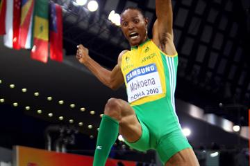 Godfrey Khotso Mokoena of RSA in action in the Long Jump  final (Getty Images)