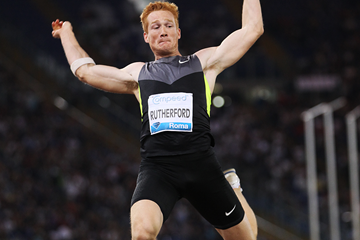 Greg Rutherford in the long jump at the IAAF Diamond League meeting in Rome (Giancarlo Colombo)