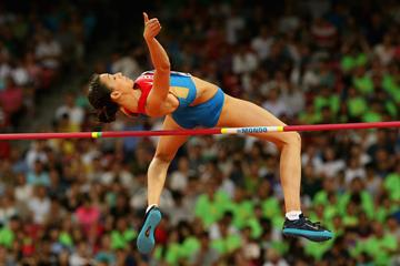 Maria Kuchina in the high jump final at the IAAF World Championships, Beijing 2015 (Getty Images)