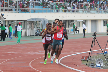 Ayanleh Souleiman on his way to winning the 1000m in Djibouti City (Organisers)