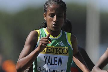 Ethiopia's Genet Yalew at the IAAF World Cross Country Championships (Getty Images)
