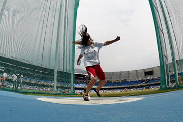 Kristina Rakocevic in the discus at the IAAF World Youth Championships Cali 2015 (Getty Images)