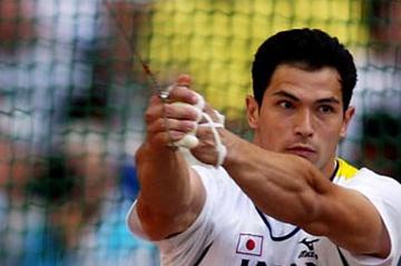 Koji Murofushi of Japan finishes third in the men's hammer throw (Getty Images)