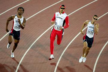 Jeremy Wariner of the US on his way to winning the 400m (Getty Images)