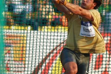 Primoz Kozmus confirms his world No.1 spot in the hammer with a 79.80m victory (Getty Images)
