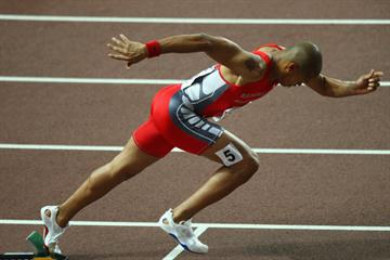 Felix Sanchez of the Dominican Republic competes in the Men's 400m Hurdles Final (Getty Images)