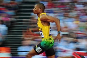 Jamaica's Warren Weir in action in the 200m (Getty Images)
