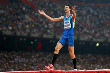 Bogdan Bondarenko in the high jump at the IAAF World Championships, Beijing 2015 (Getty Images)