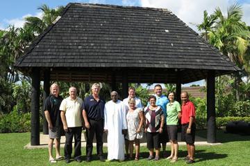 IAAF President Lamine Diack (centre) with OAA Council members (OAA)