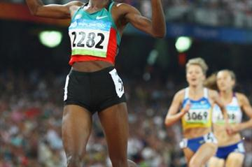 Nancy Lagat of Kenya takes just her second victory of the year - but it came in the Olympic final (Getty Images)