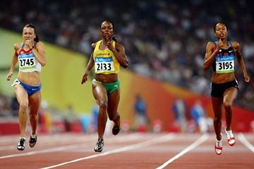 Veronica Campbell-Brown wins her 200m semi final, while Yuliya Chermoshanskaya and Muna Lee set PBs (Getty Images)