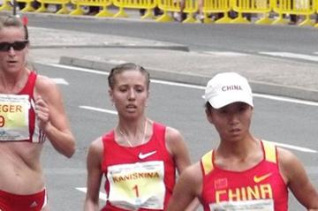 Hong Liu, Olga Kaniskina and Melanie Seeger in La Coruna (Véronique Warburton)