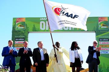 IAAF president Lamine Diack at the closing of the IAAF World Junior Championships, Oregon 2014 (Getty Images)