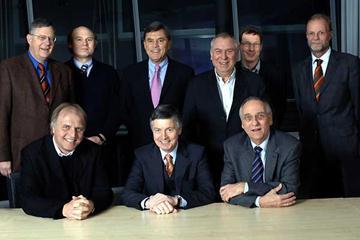 Berlin 2009: back - Heiner Henze, Prof. Eike Emrich, Rolf Eckroth, Gerhard Janetzky, Matthias Reick, Heinrich Clausen; front - Dr. Clemens Prokop , Rene Scheer, Klaus Böger (kc foto/mixedzone GmbH)