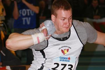 Martin Stasek in action at the 2013 Czech Indoor Championships (Jan Kucharčík - atletika.cz)