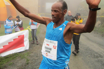 Abraham Kidane after winning in Leogang (Organisers)