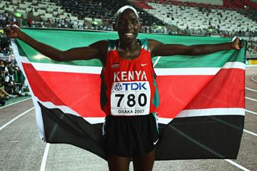 Alfred Kirwa Yego celebrates winning gold in the men's 800m (Getty Images)