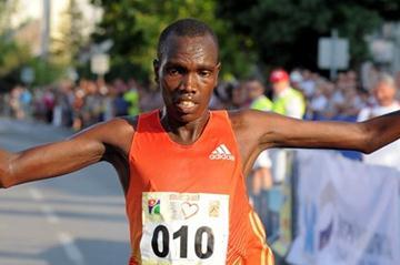 Bonface Kirui of Kenya after his dominating victory at the Vidovdan 10Km Road Race (Organisers)