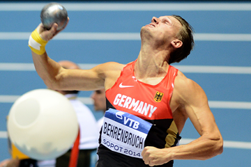 Pascal Behrenbruch in the heptathlon shot at the IAAF World Indoor Championships (AFP / Getty Images)