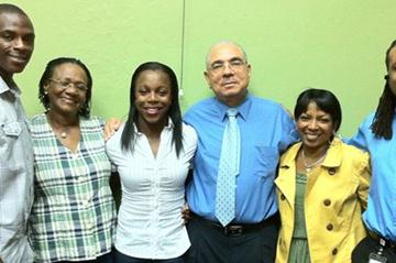 Veronica Campbell Brown with members of her Foundation (Claude Bryan)