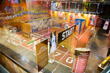 A general view of the IAAF Centenary Exhibition at the Joan Antoni Samaranch Olympic and Sport Museum in Barcelona (Getty Images)